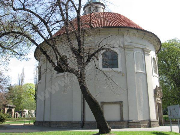 kaple sv. Rocha, Šebestiána a Rozálie na Olšanských hřbitovech