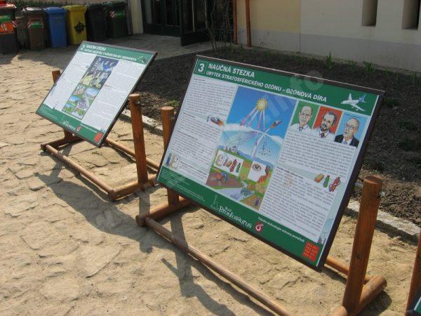 informační panely naučné stezky Problémy životního prostředí ve městě