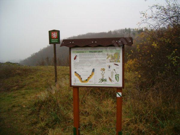 informační panel naučné stezky Roztocký háj-Tiché údolí