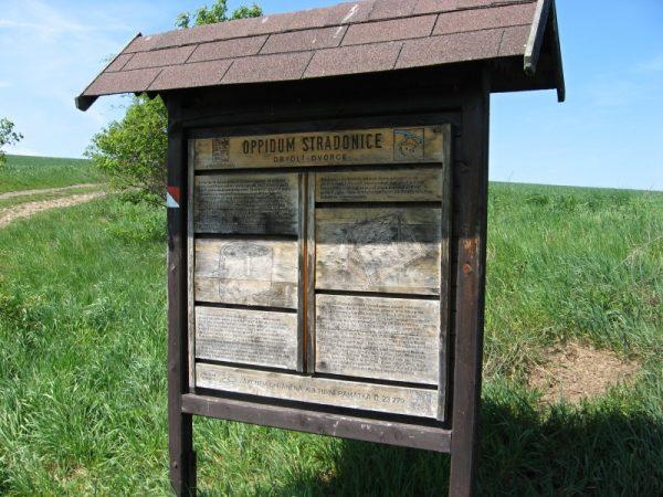 oppidum Stradonice - informační panel