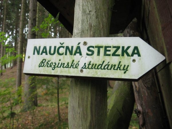 panel naučné stezky Březinské studánky
